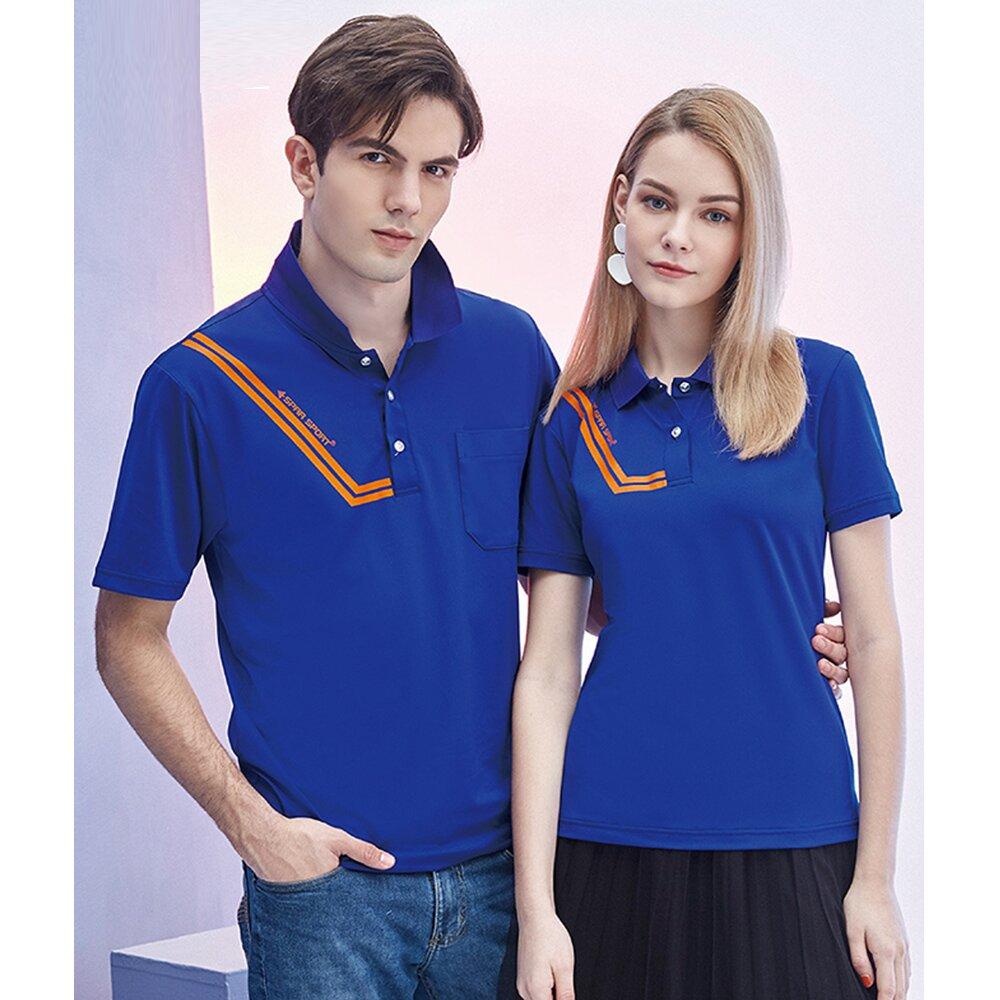 【SPAR】洞洞彈性吸排男版短袖POLO衫(S218217海軍藍)