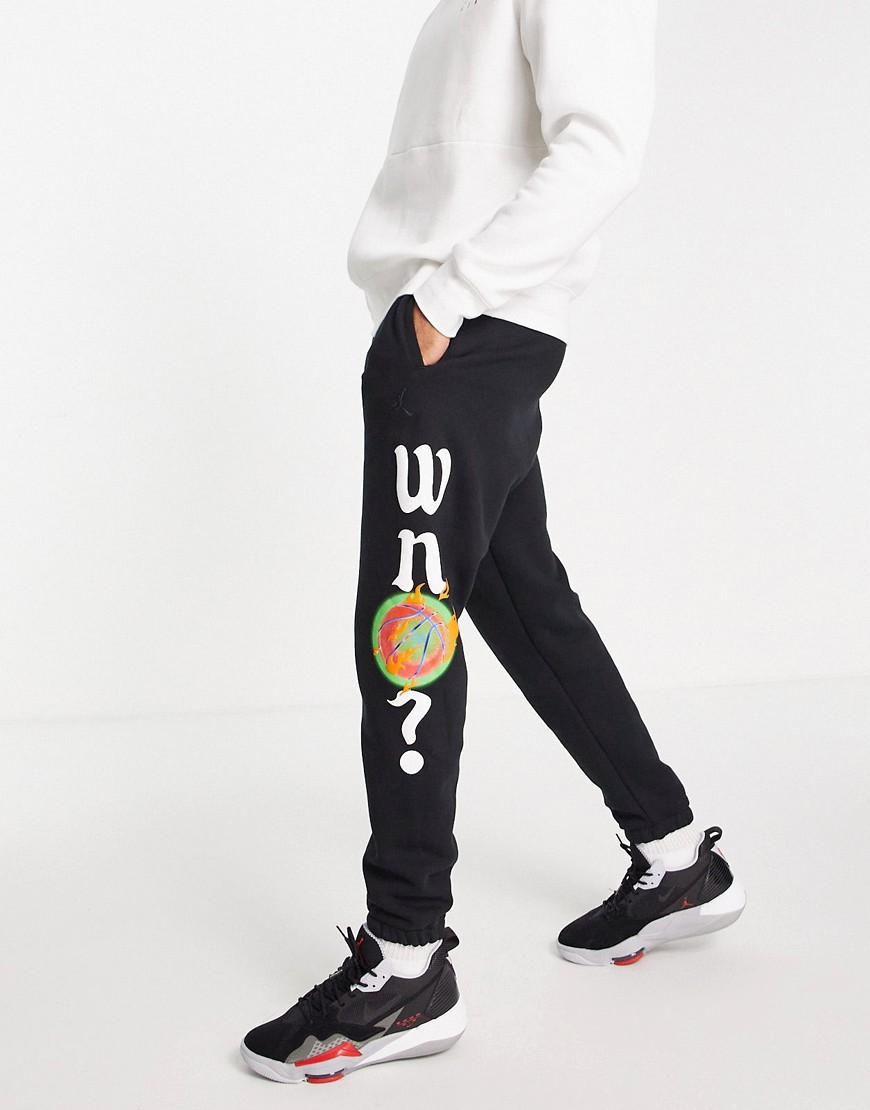 Nike Jordan Why Not? print joggers in black