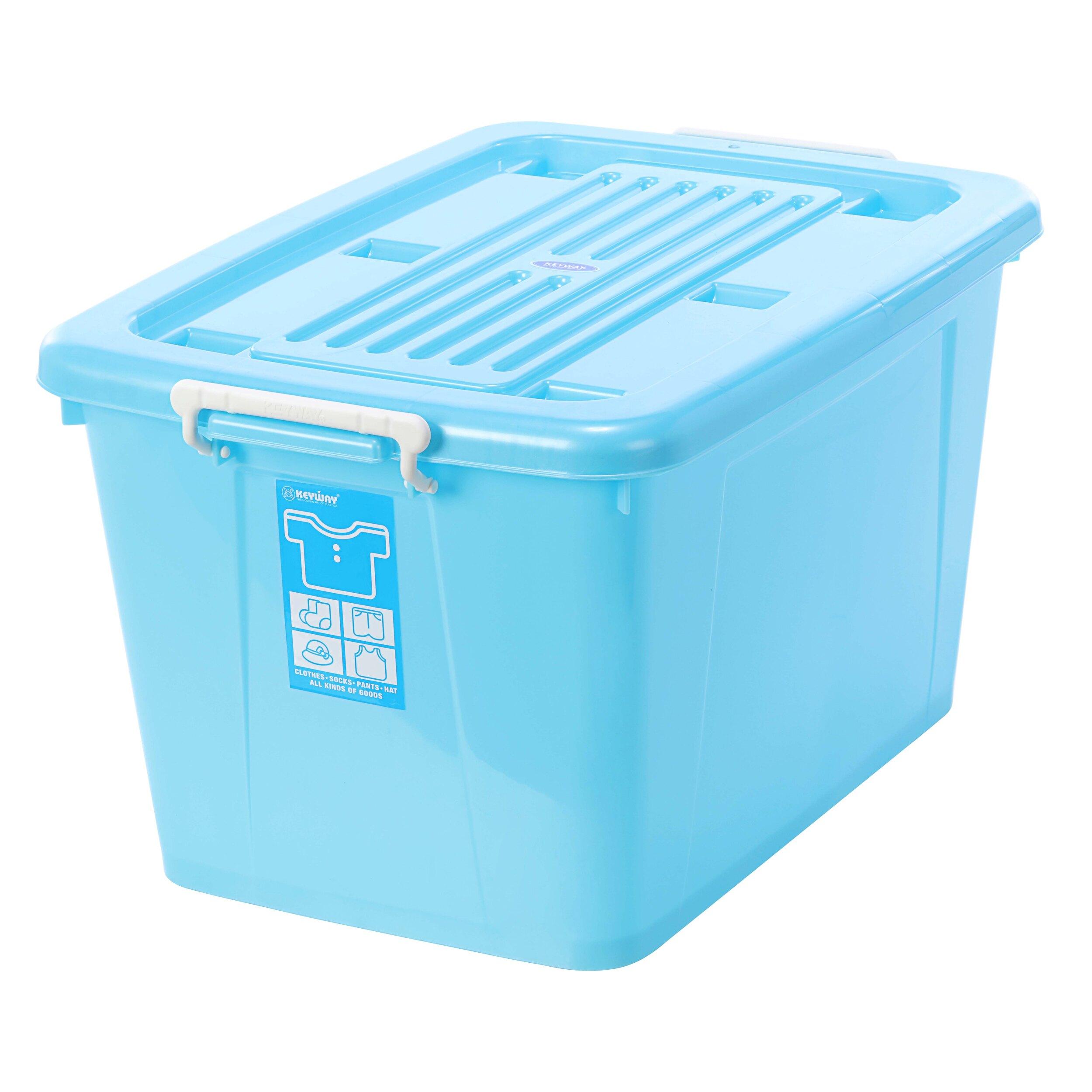換季/衣物收納/滑輪整理箱/玩色高手/MIT台灣製造 銀采滑輪整理箱【藍】 AK800 KEYWAY聯府