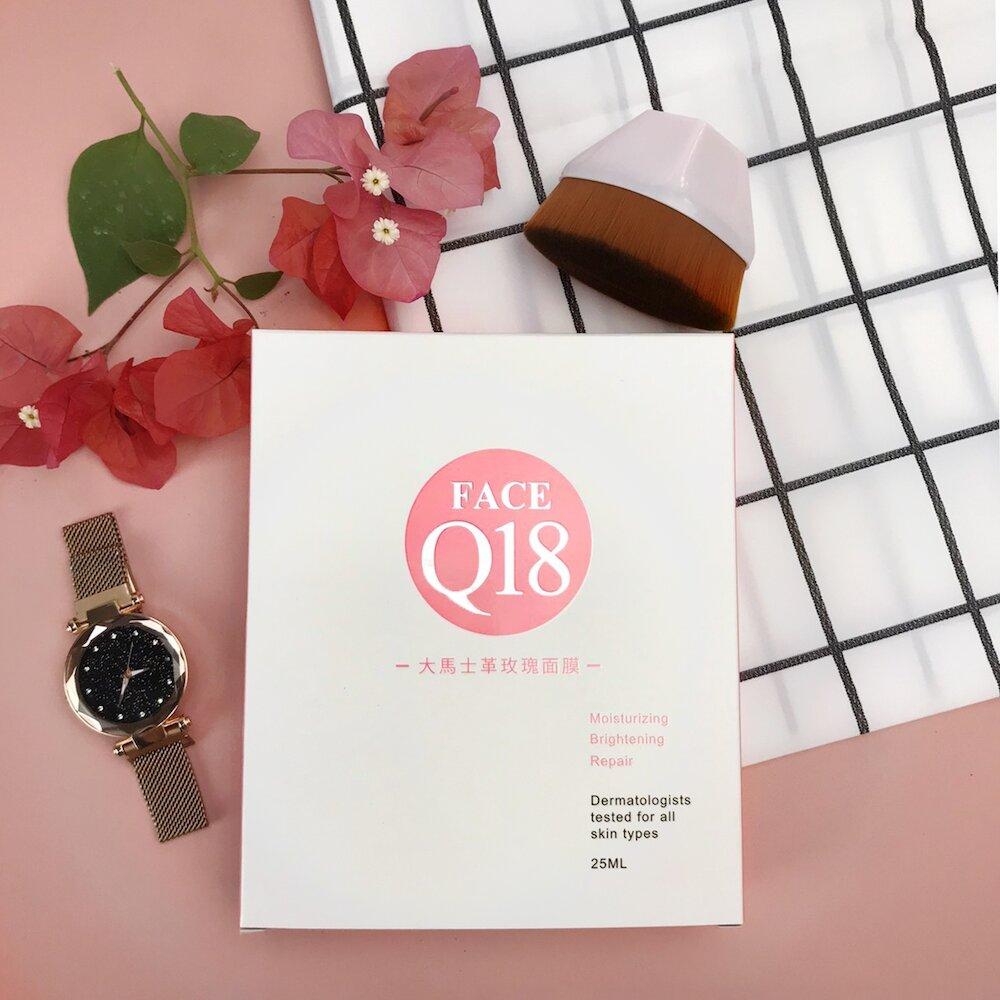 【太極石】FACE Q18-大馬士革玫瑰面膜25mlX6片/盒