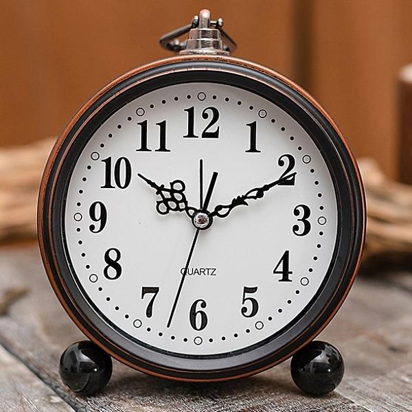鬧鐘 簡約金屬學生時鐘小鬧鐘兒童床頭專用靜音大數字電子復古創意鐘表 風馳