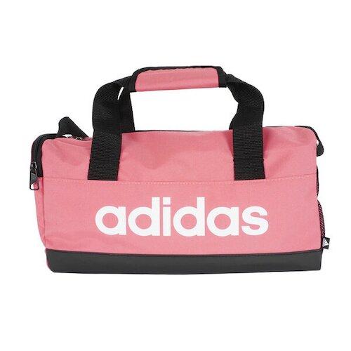 Adidas Linear Duf XS [GN1926] 健身包 雙提把 耐磨底部 加厚握柄 多層口袋 粉
