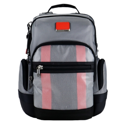 TUMI ALPHA BRAVO NATHAN系列15吋筆電多夾層後背包(灰X亮橘)