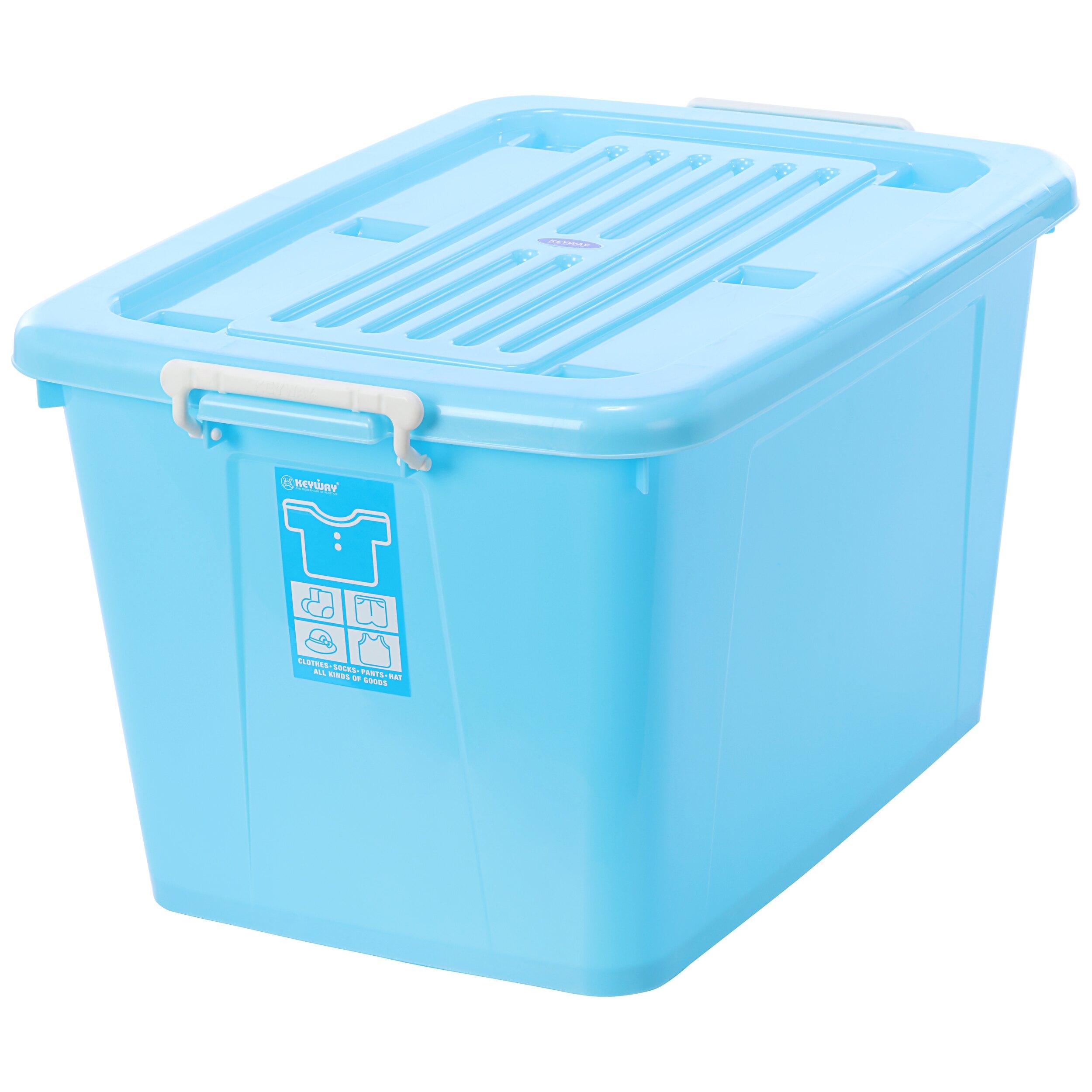 換季/衣物收納/滑輪整理箱/玩色高手/MIT台灣製造 銀采滑輪整理箱【藍】 AK1200 KEYWAY聯府