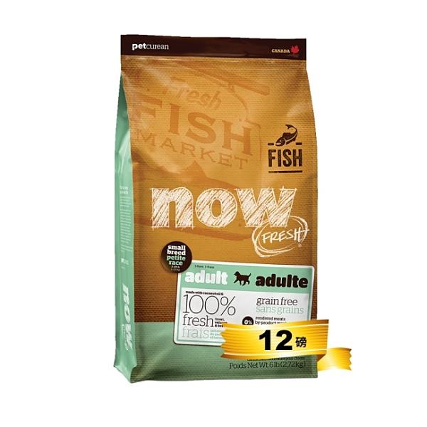 now! 鮮魚小型成犬12磅 無穀天然糧
