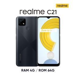 realme C21 (4G/64G) 6.5吋 大電量暢遊機-菱格黑