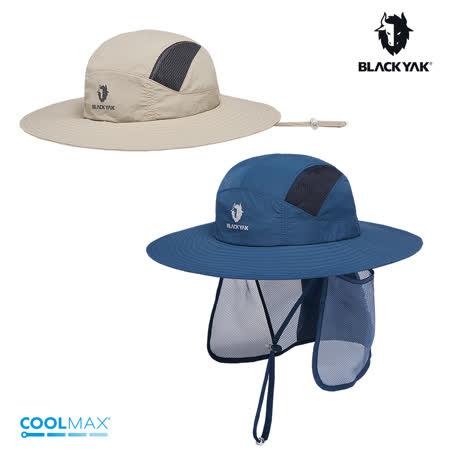 【BLACKYAK】Sahara護頸遮陽圓盤帽[深藍/淺卡其] BYAB1NAF06