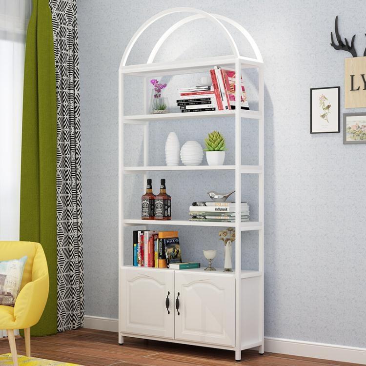 書架落地現代簡約置物架鋼木客廳簡易家用組合省空間多層兒童書櫃【免運】