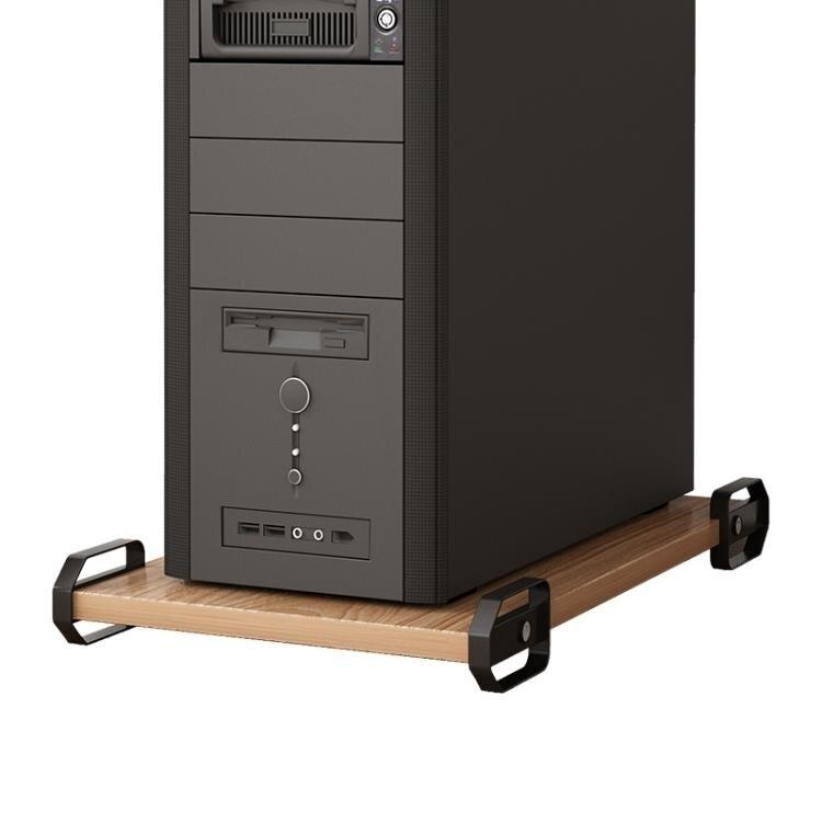 可移動主機托臺式電腦主機托架機箱托架木質機箱底座架子