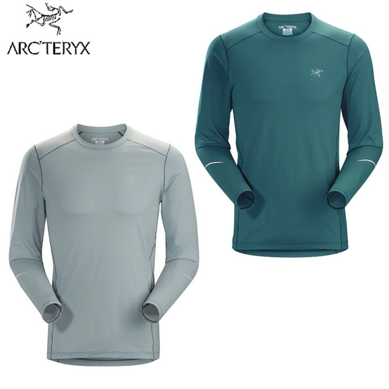 【Arcteryx 始祖鳥】男 Motus快乾長袖圓領衫 模範綠 機械灰 18903/吸濕 排汗 快乾 透氣 立體剪裁