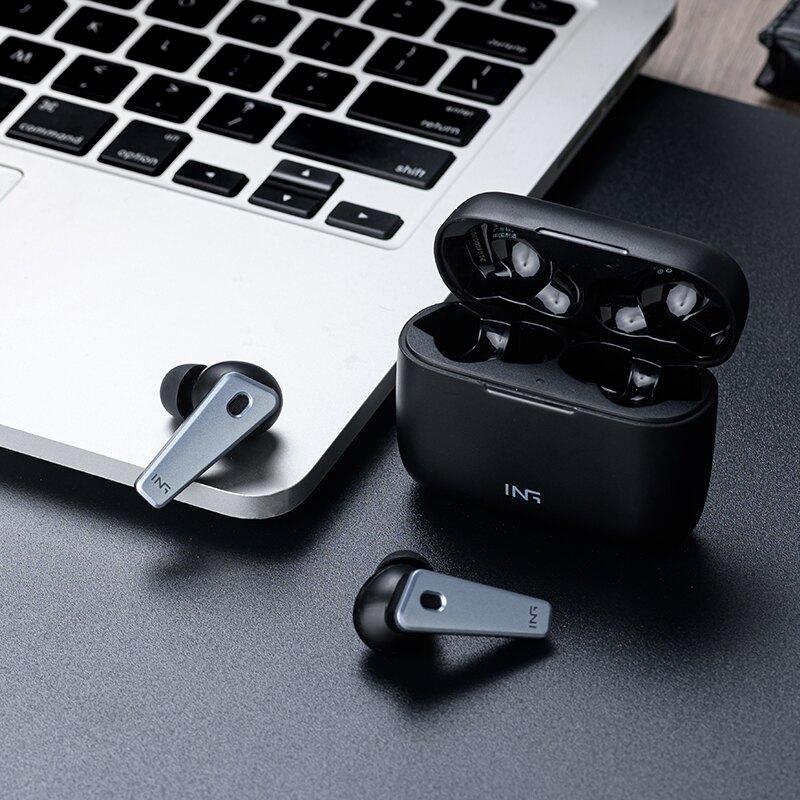 ANC主動降噪tws無線藍牙耳機2021年新款高端雙耳入耳式運動跑步久戴不痛超長待機續航高音質安卓蘋果華為通用