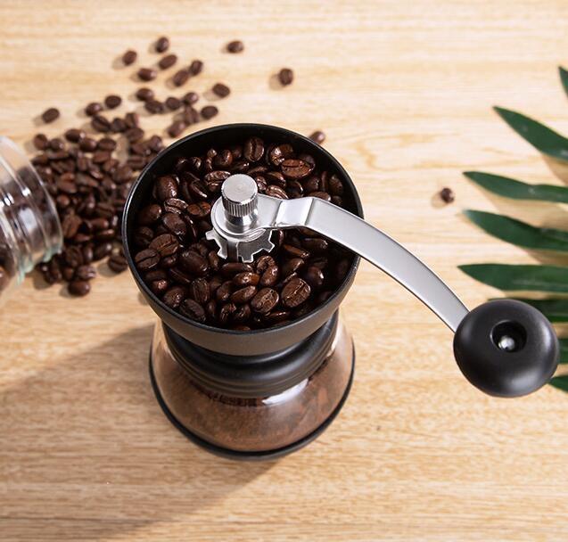 磨豆機 天喜咖啡豆研磨機手磨咖啡機家用器具小型手動研磨器手搖磨豆機【免運】