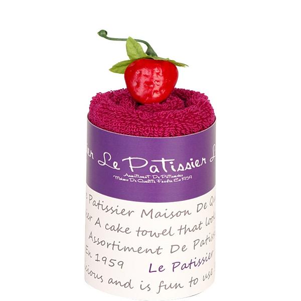 【日本製】【Le patissier】日本製 今治毛巾 戚風蛋糕造型 莓果紅(一組:3個) SD-4002-3 - 日本製