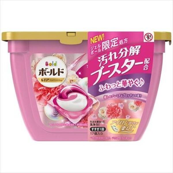 【日本製】【P&G】Bold 洗衣凝膠球3D立體 膠囊 洗衣精 本體 17顆入 牡丹花香(一組:6個) SD-2658-6 -
