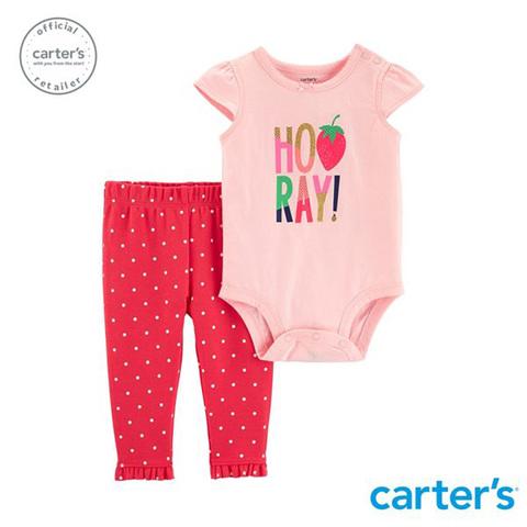 Carter's 台灣總代理 草莓印圖2件組套裝