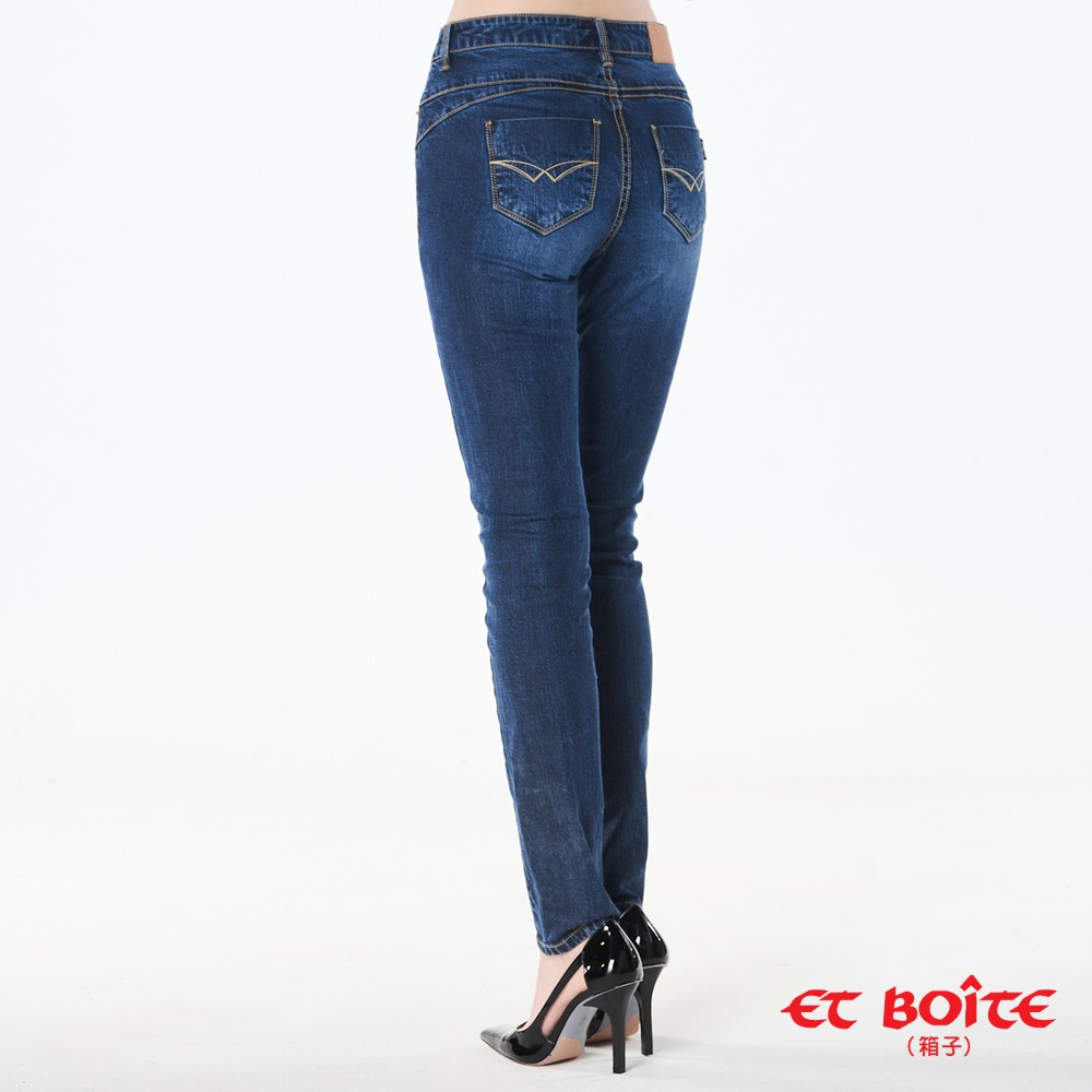 BLUE WAY ET BOiTE 箱子-高腰直筒褲/天絲調細高腰小直筒褲