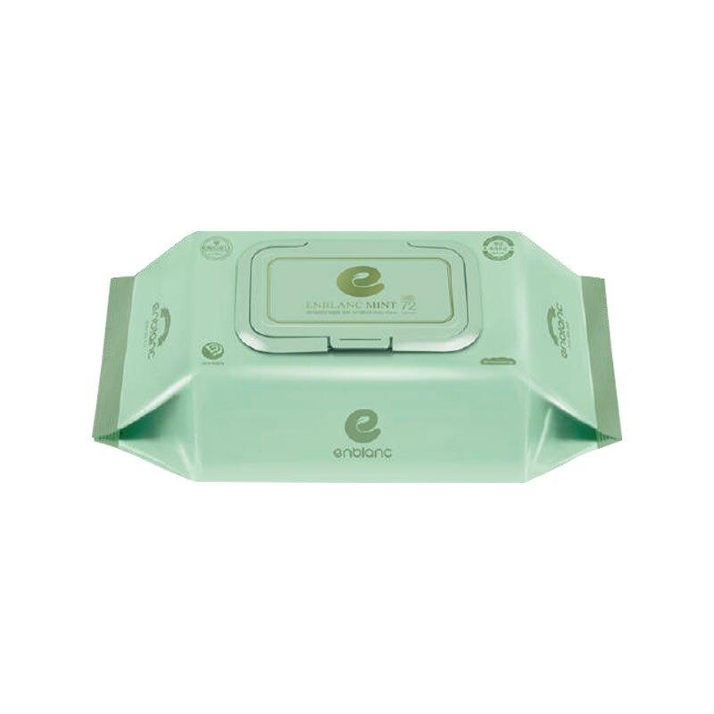 ENBLANC 銀離子抗菌 純水濕紙巾有蓋72抽-輕柔薄荷(單包)★衛立兒生活館★