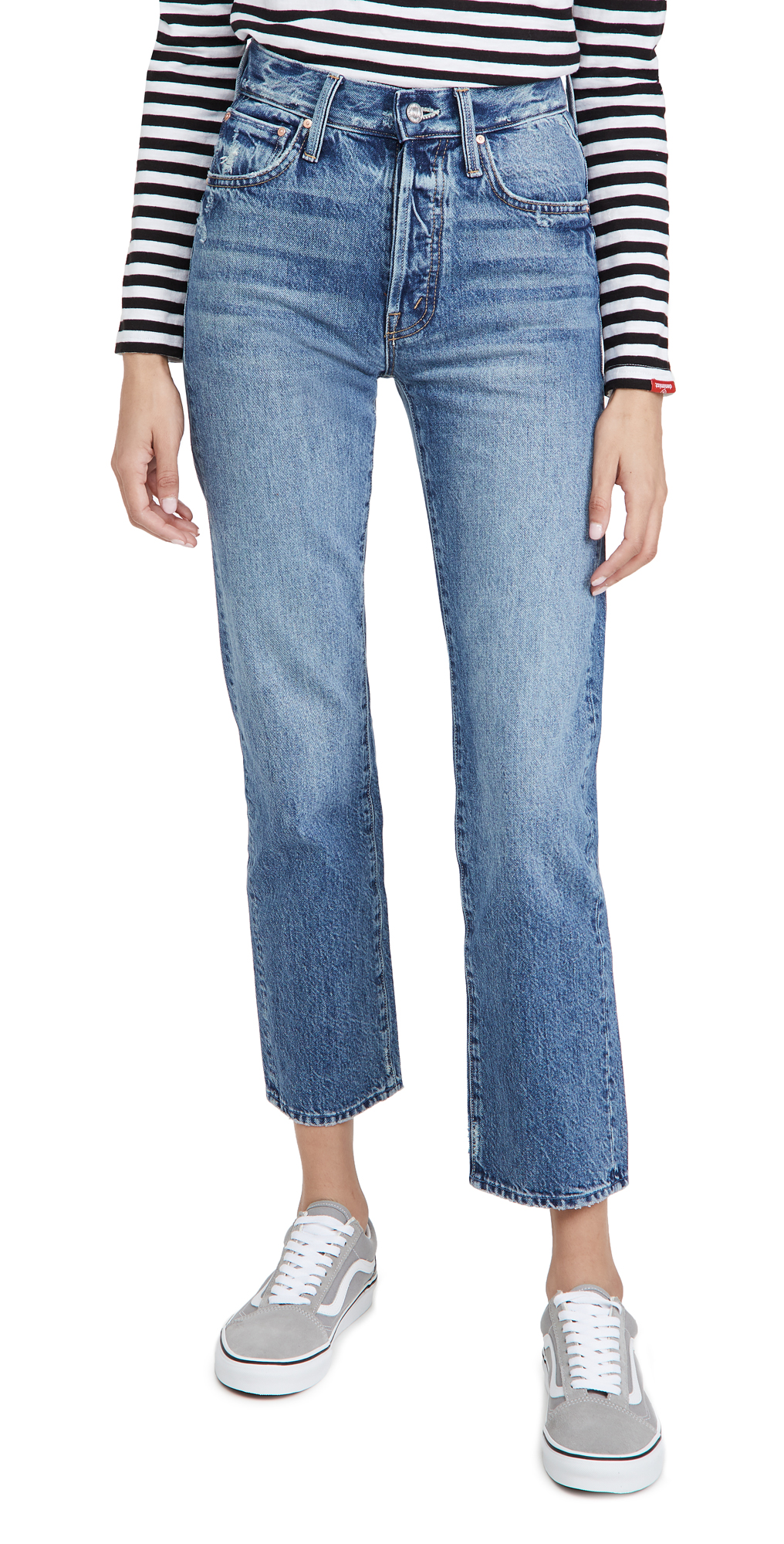 MOTHER High Waisted Hiker Hover Jeans