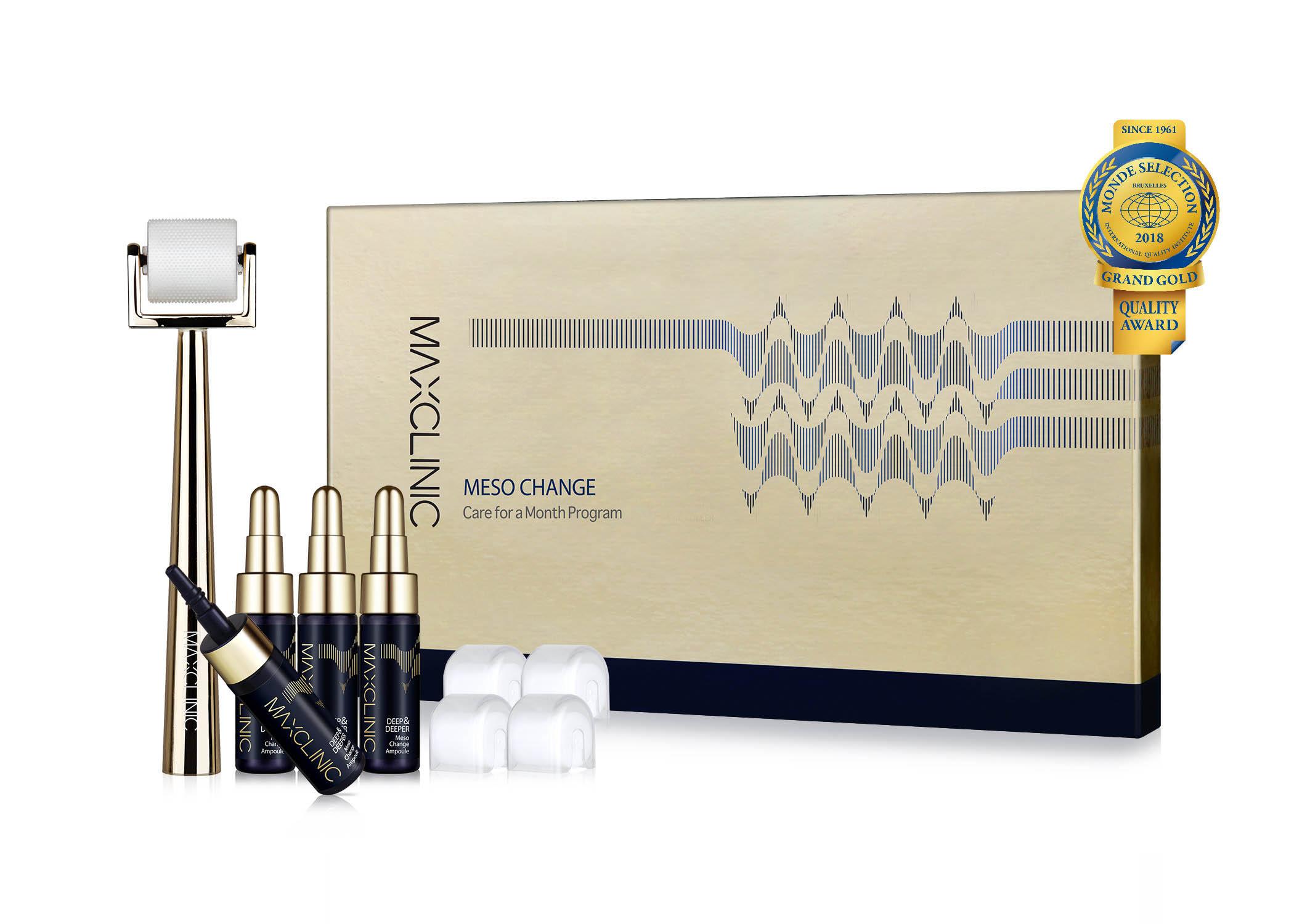 Maxclinic水光微針煥膚精華(套) ✅膠原蛋白精華安瓶7ml x 4瓶/可溶型玻尿酸微針•滾輪4入/微針•滾輪手柄 1支