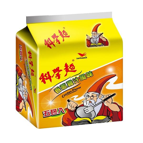 科學麵香蔥雞汁(五合一)袋*團購*8入