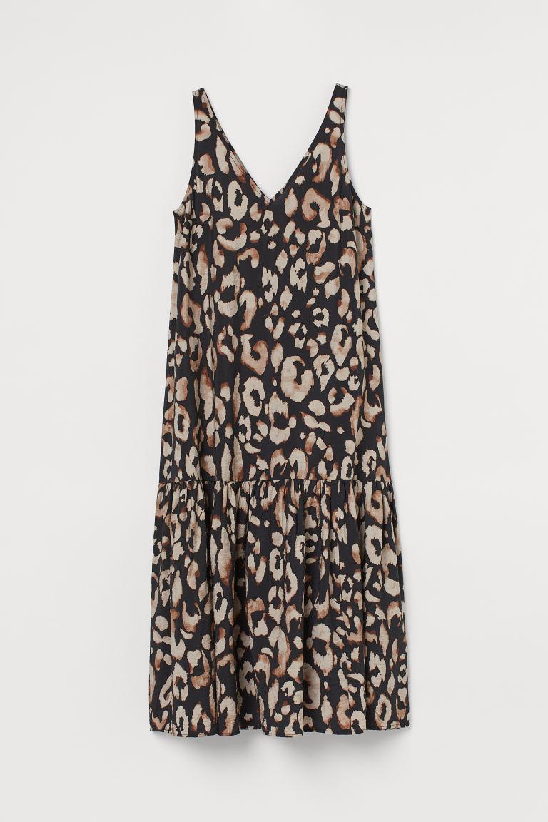 H & M - V領洋裝 - 黑色
