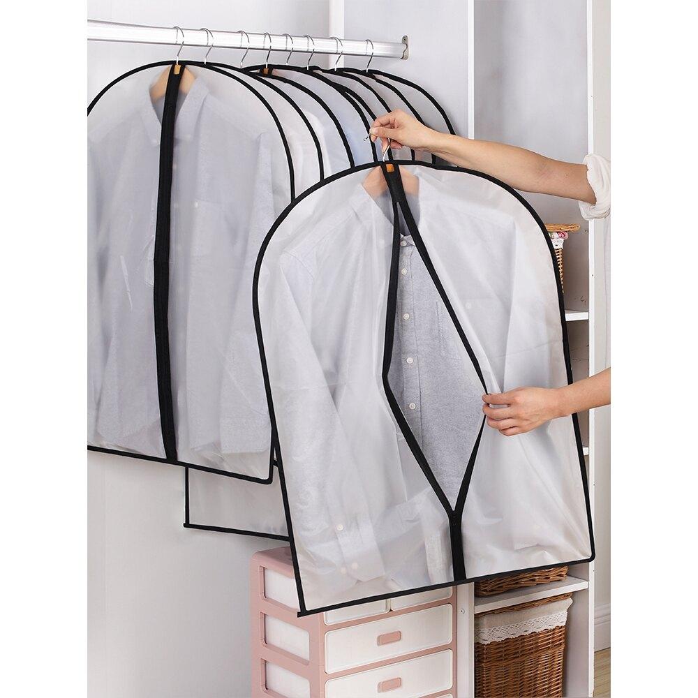 限時特賣 麥兜衣物防塵袋 防塵衣罩 防塵罩掛式家用收納大衣衣服罩掛衣袋防塵套子
