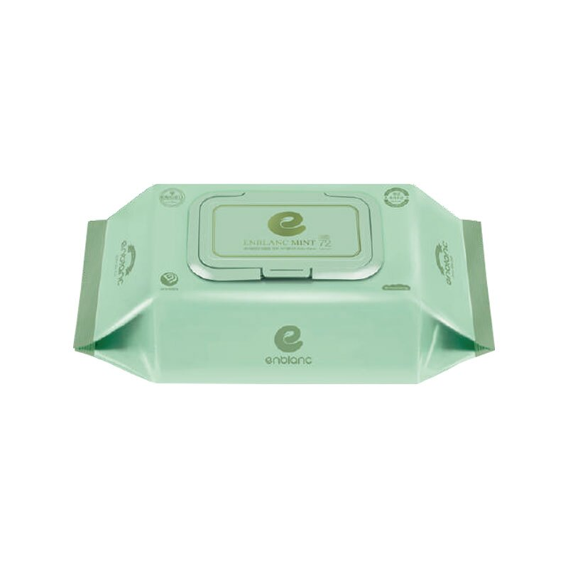 ENBLANC 銀離子抗菌 純水濕紙巾有蓋72抽-輕柔薄荷(單包)★愛兒麗婦幼用品★