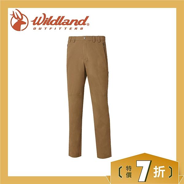 【Wildland 荒野 男 彈性輕薄抗UV長褲《卡其》】0A61302-82/抗UV/輕薄/透氣/彈性/休閒褲