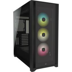 Corsair 海盜船 iCUE 5000X RGB鋼化玻璃中塔式ATX 電腦機殼—黑色