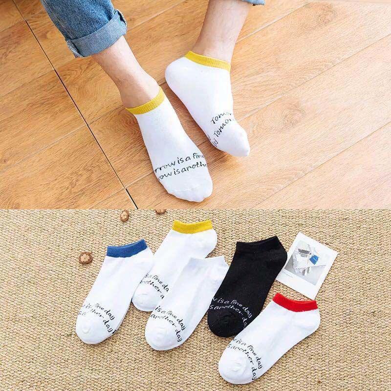 2020年時尚5雙短襪夏潮流低幫情侶滑板運動襪