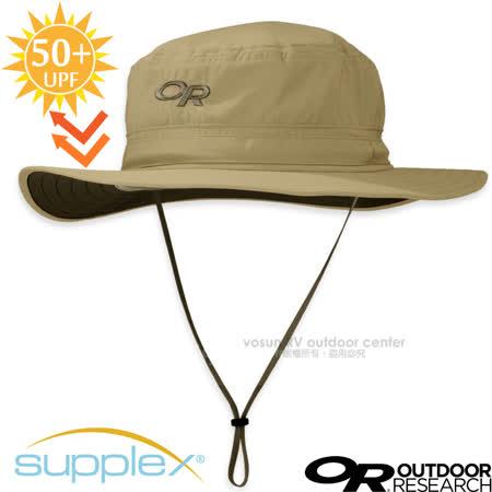 【美國 Outdoor Research】OR HELIOS SUN HAT 超輕防曬抗UV透氣可調可收折中盤帽子(UPF 50+.附帽繩)登山健行防風圓盤帽_243458 卡其