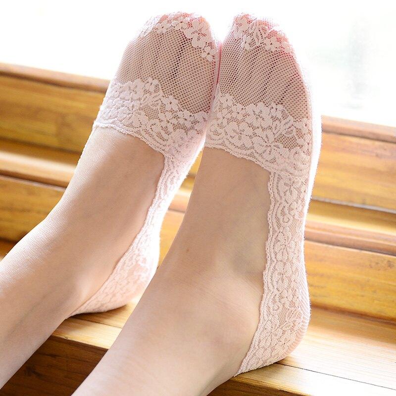 船襪女蕾絲隱形襪短襪淺口襪子硅膠防滑ins潮冰絲不掉跟短款夏季