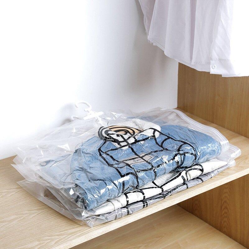 ,免運&真空袋 壓縮袋 衣服收納袋 掛式透明 羽絨服壓縮袋 抽空氣真空袋 加厚 不漏氣省空間 收納神器