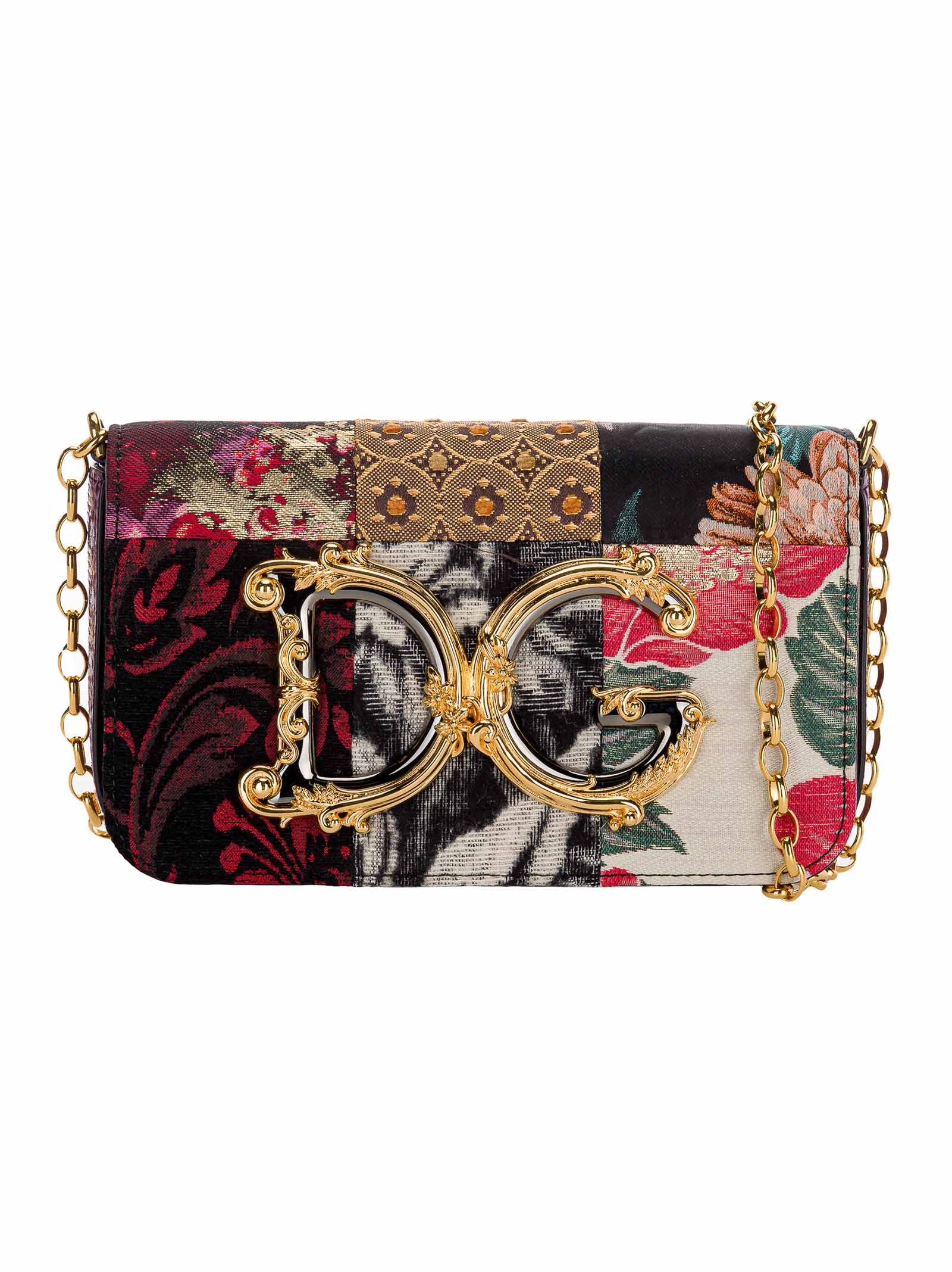 Dolce & gabbana Dg Girls Clutch In Patchwork Fabric And Ayers