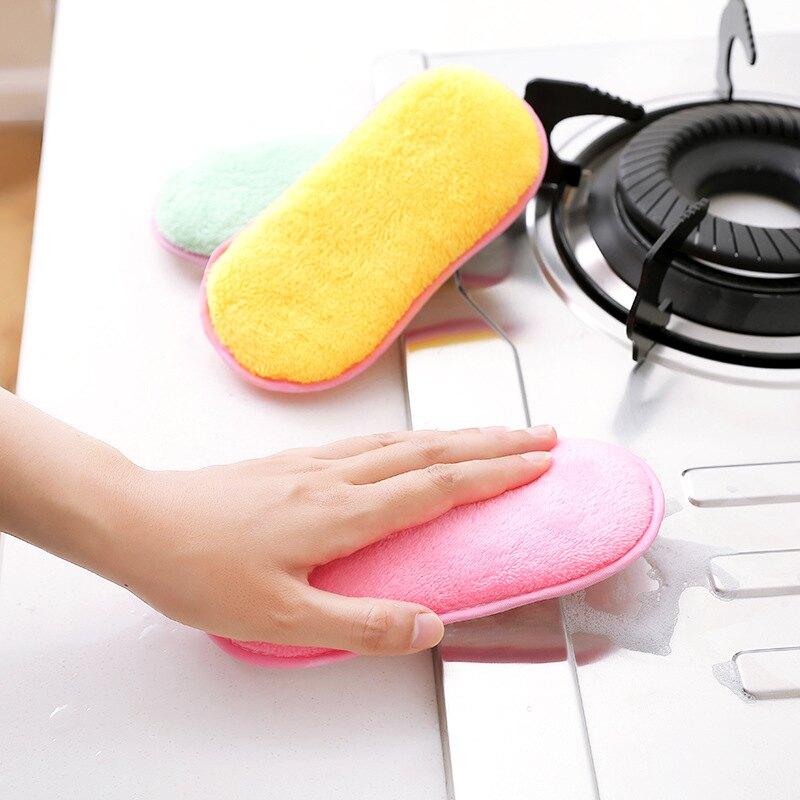 ,免運&洗碗巾廚房強力不沾油 纖維刷 碗布抹布 海綿雙面 洗鍋刷除垢 清潔用品
