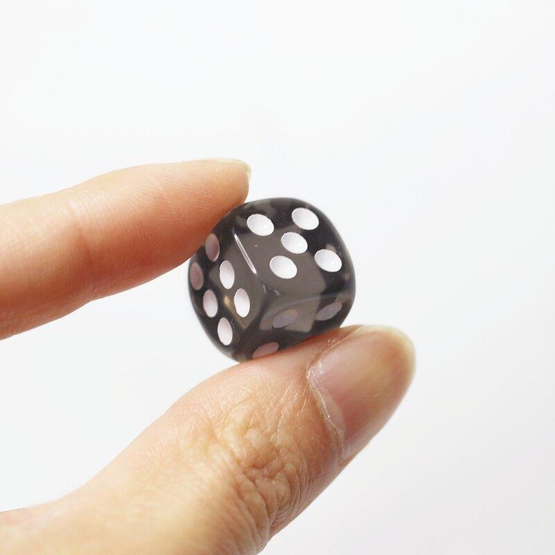 玩具亞克力水晶色子篩子骰子小號甩子塞子透明篩粒麻將游戲
