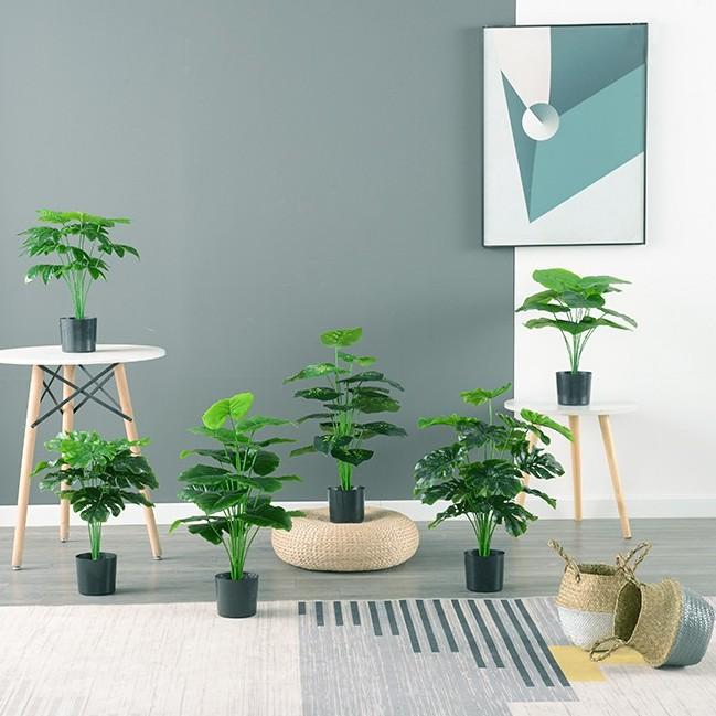 北歐模擬假樹 高綠植 高品質 旅人蕉小型 裝飾 綠蘿小盆栽 辦公室 客廳 小型散尾葵