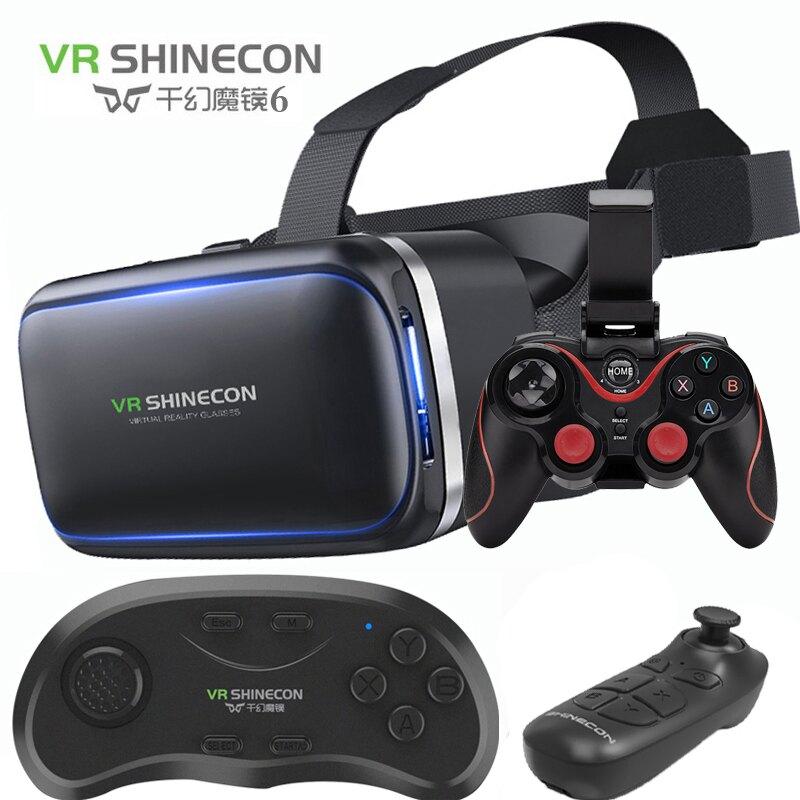 VR眼鏡 千幻魔鏡7代VR虛擬現實眼鏡手機3D影院游戲一體機頭戴式頭盔9rv10『XY21467』