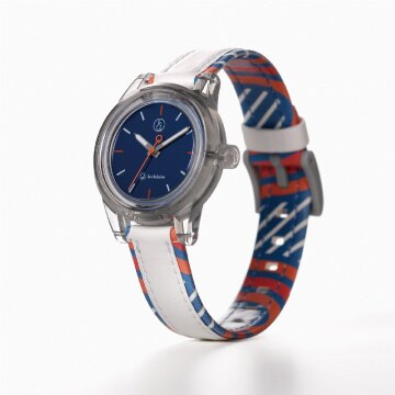 Q&Q SmileSolar MINI異國系列 020太陽能手錶-烏干達藍/30mm