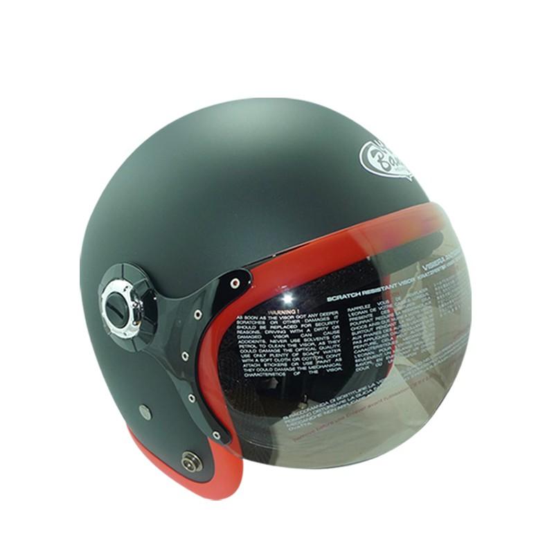 華泰 安全帽 K-803 W 復古帽 W鏡 平黑紅 半罩 全拆洗 比帽王