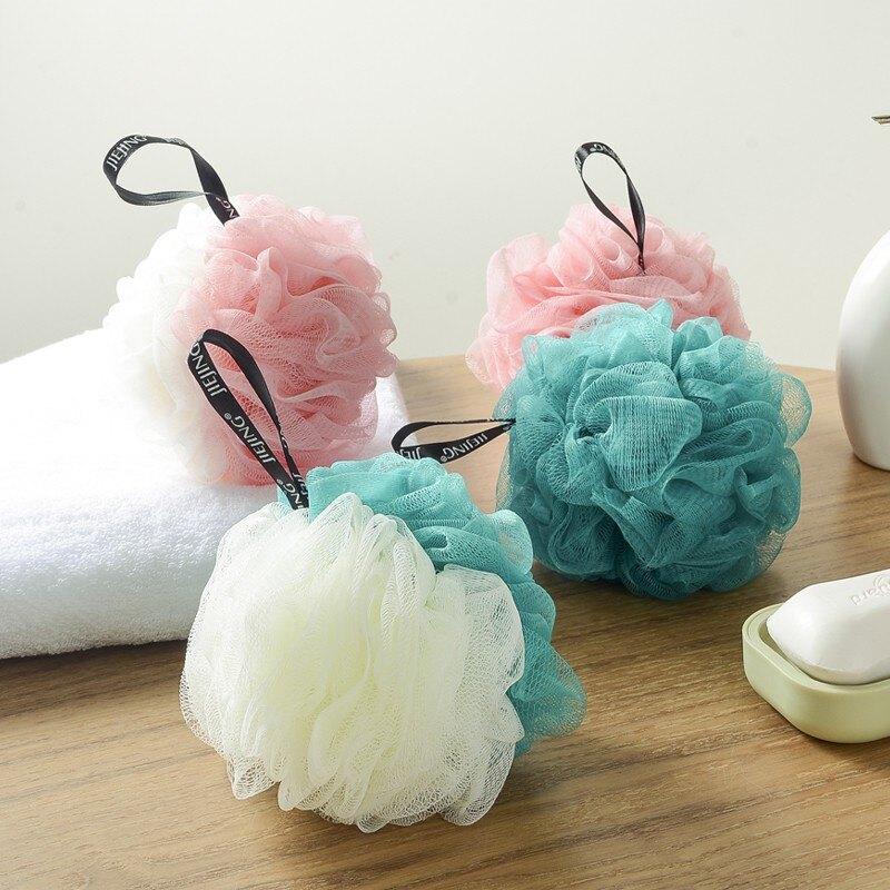 素色超柔沐浴花 大號搓澡巾 洗澡球 洗浴用品 洗浴球 起泡網 沐浴球 搓澡神器 搓澡球 打泡網 起泡球