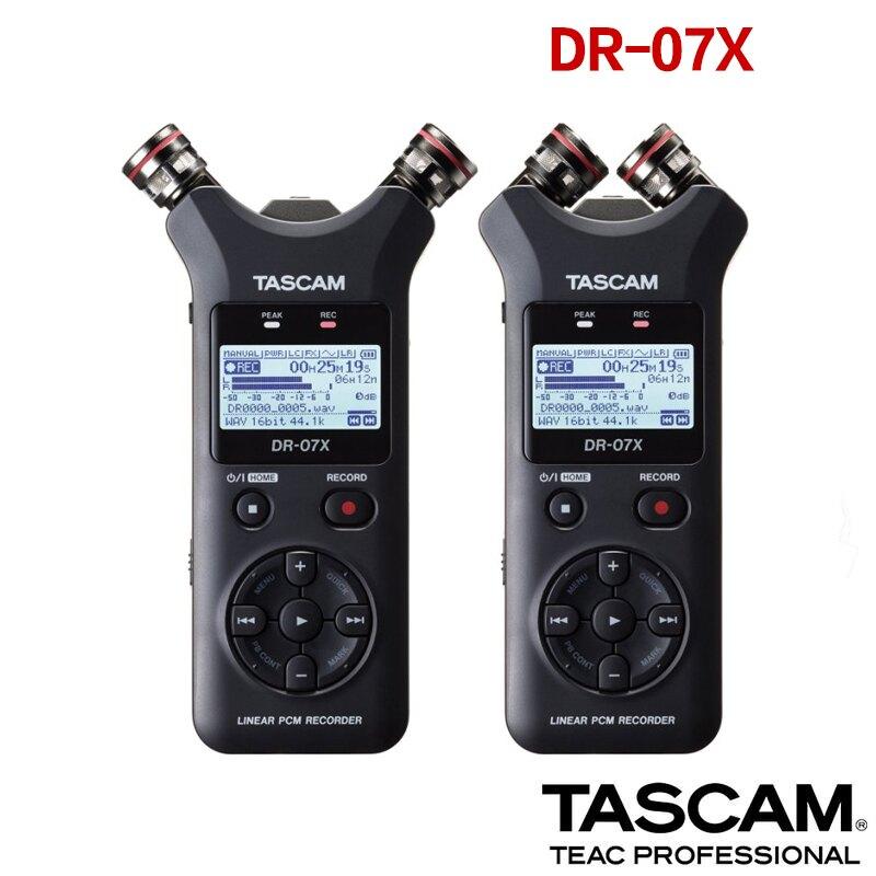 【eYe攝影】現貨 Tascam DR-07X 立體聲 錄音機 USB接口 指向性 錄音筆 麥克風 採訪 手機直播 收音