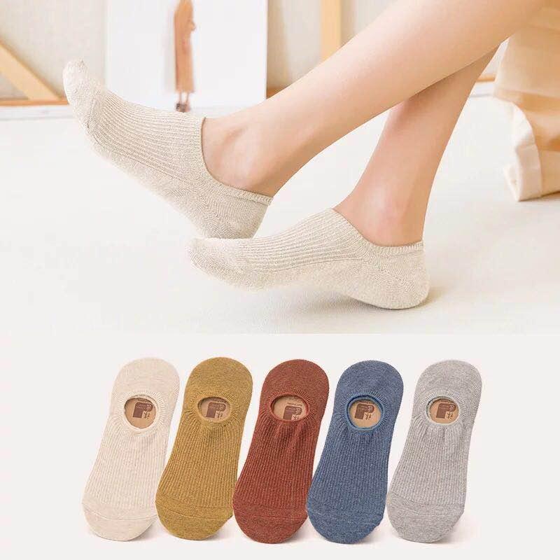 船襪子女士隱形不掉跟淺口短襪薄款純色硅膠防滑夏季春秋