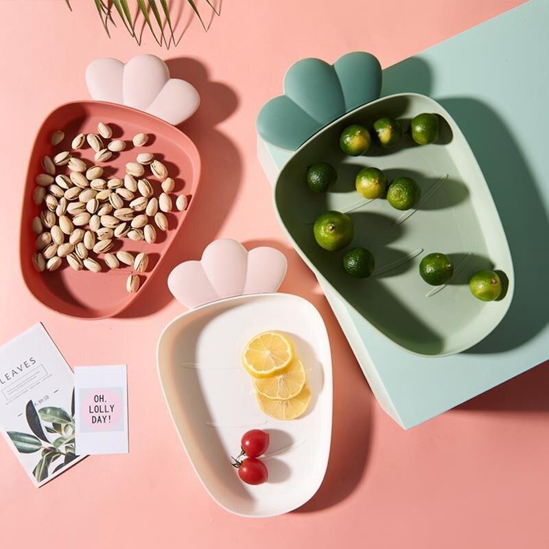 &&免運,現貨&&水果盤 糖果盤 塑料水果盤 乾果盤 堅果盤  客廳現代創意 瓜子幹果茶幾果盆 零食糖果盤