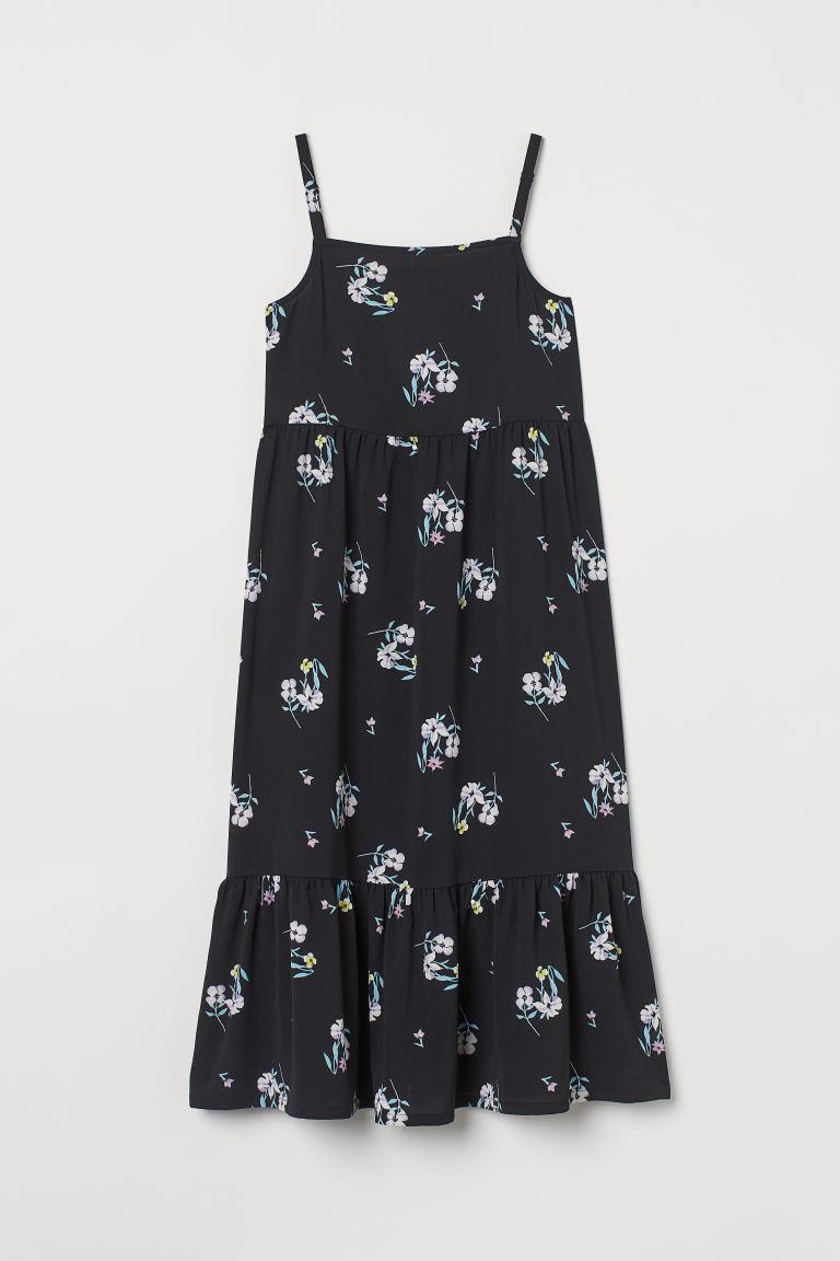 H & M - 縐紗洋裝 - 黑色