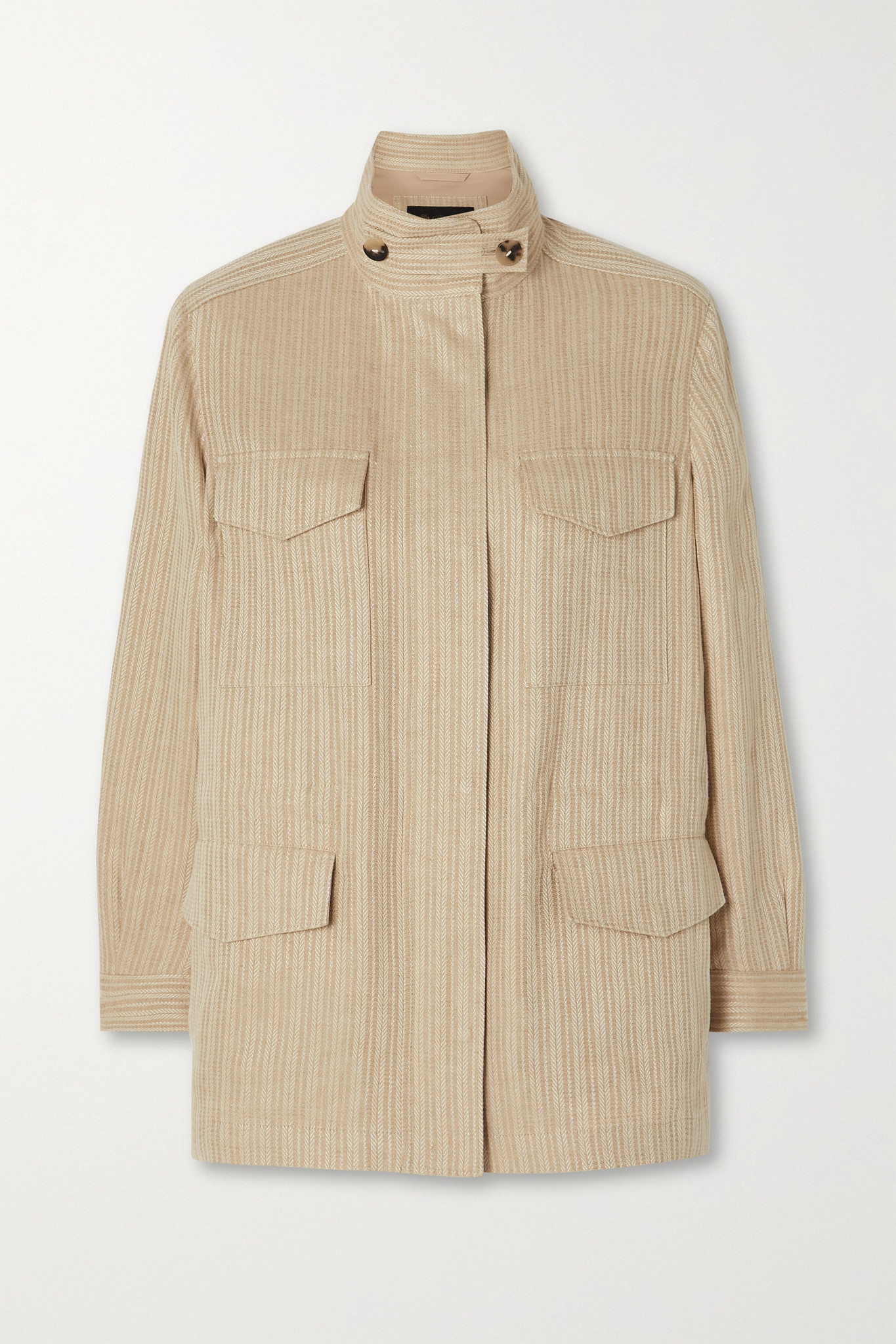 LORO PIANA - Traveller Herringbone Linen Jacket - Neutrals - medium