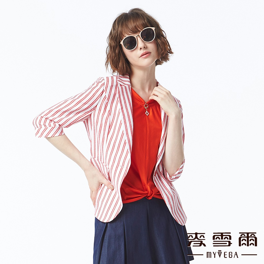 【麥雪爾】俐落率性直條西裝外套