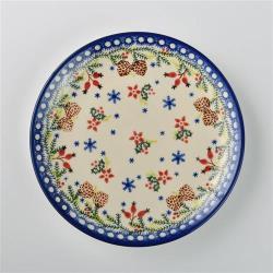 波蘭陶 初春遊樂園系列 圓形餐盤 19cm 波蘭手工製