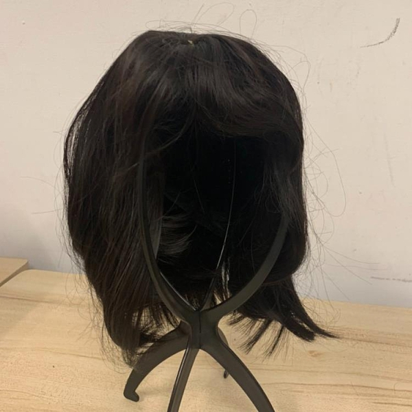 無痕假髮自然隱形一片式假髮片頭頂遮蓋白髮短卷(30公分/777-11489)
