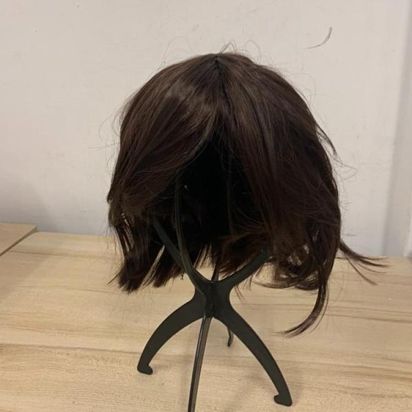 無痕假髮自然隱形一片式假髮片頭頂遮蓋白髮短卷(30公分/777-11488)